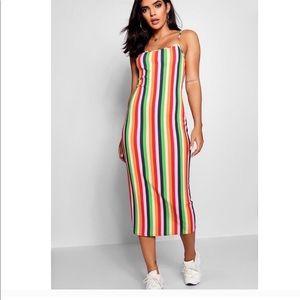 Boohoo Striped Dress
